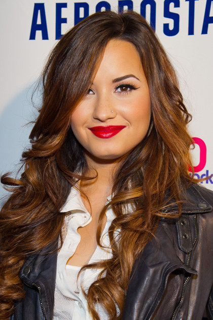 NEW YORK, NY - OCTOBER 21: Singer Demi Lovato attends Z100's Jingle Ball '11 official kick off party at Aeropostale Times Square on October 21, 2011 in New York City. (Photo by Michael Stewart/FilmMagic)