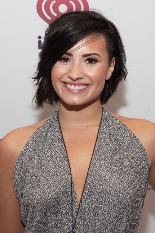 CHICAGO, IL - DECEMBER 18: Singer Demi Lovato attends 103.5 KISS FM's Jingle Ball on December 18, 2014 in Chicago, Illinois. (Photo by Gabriel Grams/FilmMagic)