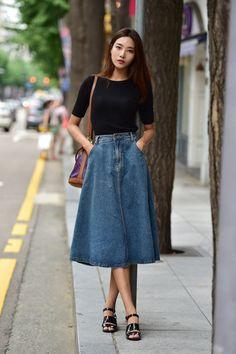 Midi + Jeans